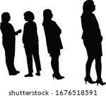 women together  black color...   Shutterstock .eps vector #1676518591