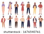 vector people in casual clothes ... | Shutterstock .eps vector #1676540761