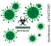 novel coronavirus  2019 ncov .... | Shutterstock .eps vector #1676572387