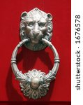 Lionhead Knocker Door