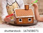 Children Paint A Gingerbread...