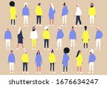 a collection of diverse... | Shutterstock .eps vector #1676634247
