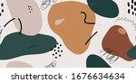 brown  muted seamless pattern...   Shutterstock .eps vector #1676634634