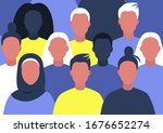 group of young characters... | Shutterstock .eps vector #1676652274