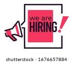hiring speech cloud and... | Shutterstock .eps vector #1676657884