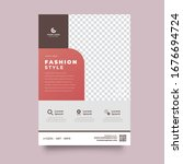 business vector set. brochure... | Shutterstock .eps vector #1676694724