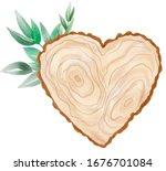 Watercolor Wood Slice Banner...