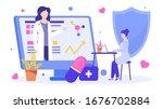 online medical education of... | Shutterstock .eps vector #1676702884