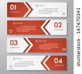 design clean number banners... | Shutterstock .eps vector #167670341
