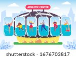 fitness and athletic center ... | Shutterstock .eps vector #1676703817
