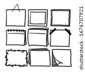 thick line doodle frame...   Shutterstock .eps vector #1676707921