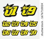 simpel star racing start number ... | Shutterstock .eps vector #1676710024