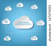 cloud computing concept and... | Shutterstock .eps vector #167674331