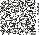vector illustration. black and... | Shutterstock .eps vector #1676744764