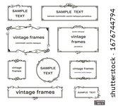 vector image. set of vintage... | Shutterstock .eps vector #1676744794
