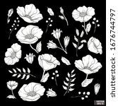 vector illustration. set of... | Shutterstock .eps vector #1676744797