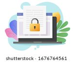 document secure confidential... | Shutterstock .eps vector #1676764561