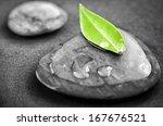 black and white zen stones...   Shutterstock . vector #167676521