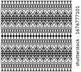 aztec ikat ethnic seamless...   Shutterstock .eps vector #1676777101
