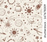 seamless space pattern. can be... | Shutterstock . vector #167678309