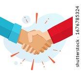 hand shake hands or handshake... | Shutterstock .eps vector #1676785324
