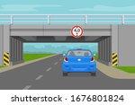 driving a car. car going... | Shutterstock .eps vector #1676801824