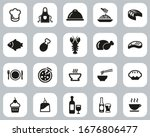 lunch or restaurant lunch icons ... | Shutterstock .eps vector #1676806477