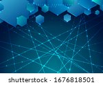 abstract blue background... | Shutterstock .eps vector #1676818501