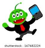 alien businessman in business...   Shutterstock .eps vector #167682224