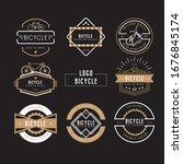 bicycle labels templates... | Shutterstock .eps vector #1676845174