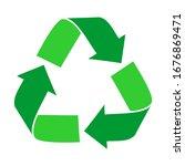 green arrows recycle eco symbol ...   Shutterstock .eps vector #1676869471