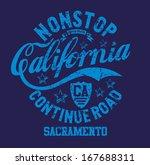 california retro route 66... | Shutterstock .eps vector #167688311