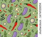 vegetables illustration ... | Shutterstock .eps vector #1676920054