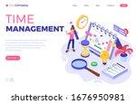 planning schedule time... | Shutterstock .eps vector #1676950981