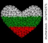 Bulgaria Flag in Heart Shape. Transparent hearts design. Izolated vector Illustration. Use for printing, posters, T-shirts, textile drawing, print pattern, etc. Follow other flags in my collection.