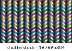 vector seamless decor. zigzag... | Shutterstock .eps vector #167695304