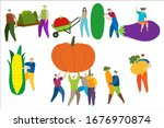 tiny man and women in work... | Shutterstock .eps vector #1676970874