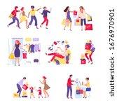 shopper character people...   Shutterstock .eps vector #1676970901