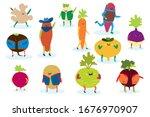 smile food vegetable  healthy... | Shutterstock .eps vector #1676970907