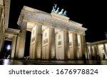 Branderburg Gate At Night ...