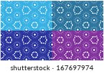 set of abstract  seamless... | Shutterstock .eps vector #167697974