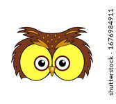 mask for printing an owl. owl... | Shutterstock .eps vector #1676984911