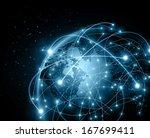 best internet concept of global ... | Shutterstock . vector #167699411