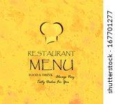 restaurant menu design   menu... | Shutterstock .eps vector #167701277