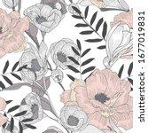 beautiful seamless floral... | Shutterstock .eps vector #1677019831