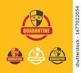 coronavirus quarantine icon set ...   Shutterstock .eps vector #1677022054