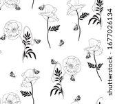 seamless vector floral pattern... | Shutterstock .eps vector #1677026134