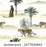 cheetah wildlife animals in...   Shutterstock .eps vector #1677033841