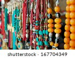 jewelry at market in mtsheta ... | Shutterstock . vector #167704349