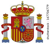 coat of arms of spain. accurate ... | Shutterstock . vector #167706779